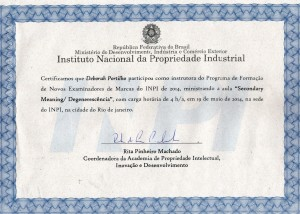 Certificado Palestra INPI_19 05 2014